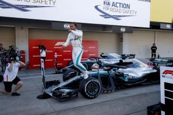 F1: Hamilton bajnoki címe immár csak formaság