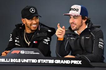F1: Alonso leborult Hamilton nagysága előtt
