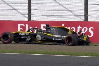 F1: Balesettel ért véget az utolsó edzés