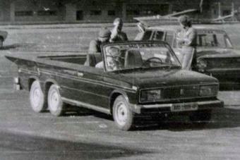 Egyedi hatkerekű Lada került elő a múltból