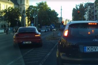 Megvan az év legarcátlanabb autósa, aki Porschével jár Budapesten és magasról tesz mindenkire