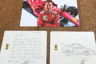 F1: Vettel kézzel írt kedves levelet egy rajongójának