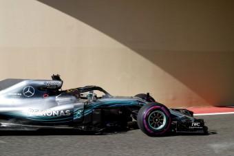 F1: Hamiltoné a szezon utolsó edzése