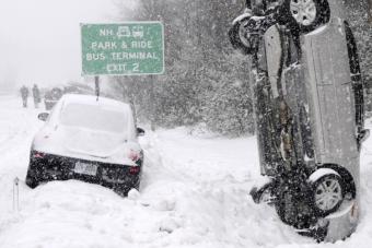 Ez az autós elkövette a tél legnagyobb vezetői hibáját