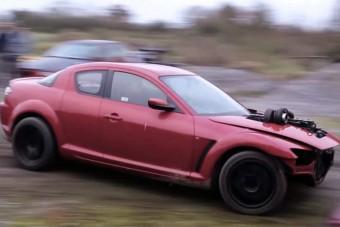 Őrült motor került ebbe a Mazda RX-8-asba