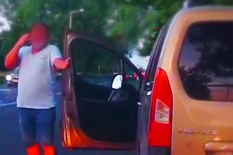 Megsértődött a szabálytalan autós a magyar rendőrökre