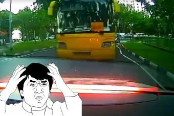 Fogadjunk, nem számítasz rá, hogy mi fog ezzel a busszal történni a fékezés után