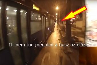 Videón egy egészen durva eset Budapestről - Busz vs. bringás