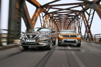 Dacia Duster vs Nissan Qashqai - Jobb a drágább?