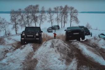 Összeeresztették napjaink legdrágább terepjáróit és SUV-jait, igen kemény körülmények között
