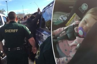 Lezárt autóból mentett csecsemőt egy fegyenc