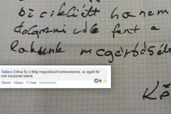 Jópofa üzenet egy pesti társasházban, de a kommentek büntetnek igazán