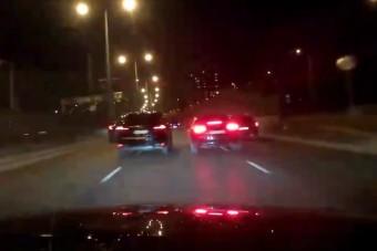 Életveszélyes verseny az M3-as kivezetőn Budapesten