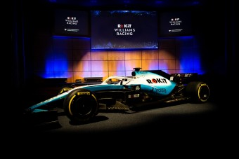 F1: Új színekkel és főszponzorral mutatkozott be a Williams