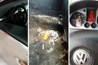 A mosós srác picit megrémült, amikor meglátta, mi van a nő autójában