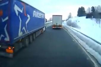 Elfogatóparancsot adtak ki egy kamionos ellen - Videón, hogy miért