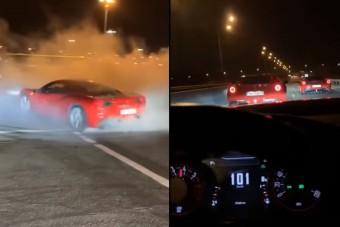 Illegális verseny Ferrarikkal és lövöldözés Nagyváradon, így mulatnak a helyi fiatalok
