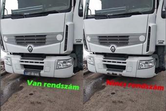 Olyan rendszámtrükköt villantott a magyar kamionos, hogy nem hiszed el