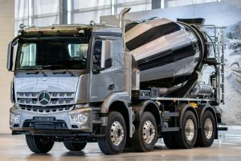 Digitális betonmixer a Mercedes-Benztől