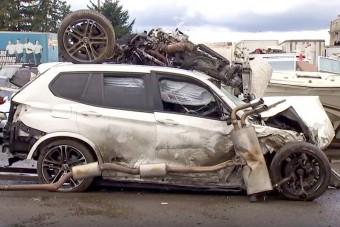 Brutális balesetet szenvedett az autótolvaj