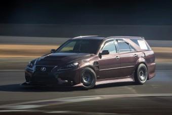 Lexus arcú driftautót építettek ebből a kombi Toyotából