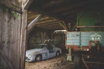 53 évig pihent ez a sirályszárnyas Mercedes