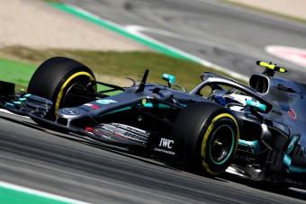 F1: Bottas duplázott Barcelonában