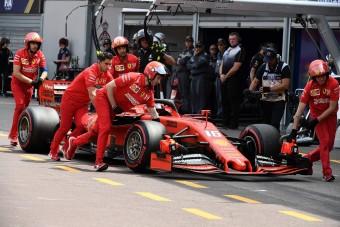 F1: Leclerc ezt bizony túltolta