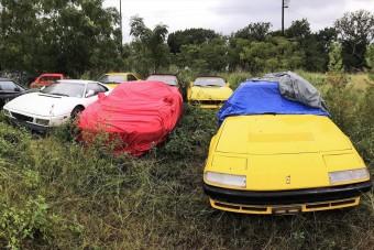 Megmenekül az elhagyott Ferrari-gyűjtemény