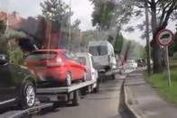 Ismét egy érdekes, de főleg szabálytalan, román vontatmányt kapcsoltak le rendőreink 2