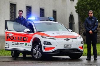 Elektromos rendőrautókat használnak Svájcban