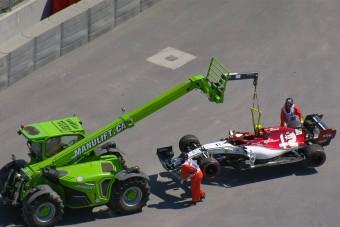 F1: Autótöréssel kezdődött a kanadai hétvége