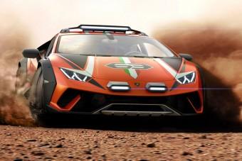 Sárba való szupersportautó a Lamborghinitől