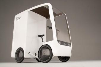Ez a pedálos kisteherautó az ökofuvarosok álma