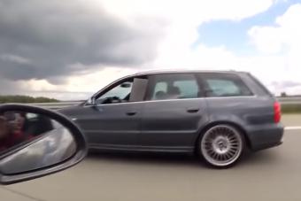 A porschés értetlenül nézte, ahogy egy kombi Audi alázza autópályán