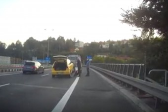 Necces helyzet az autópályán, ennyi is elég az életveszélyhez