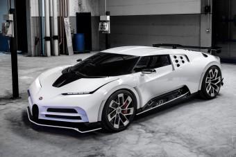 Száztízzel nyomul a legújabb Bugatti