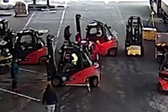 Targoncások tartották fel az autótolvajokat