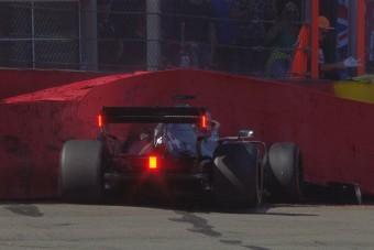 F1: Hamilton összetörte a Mercit az időmérő előtt