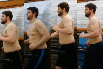 Bámulatos, mire képes a rendszeres futás egy 108 kilós testtel