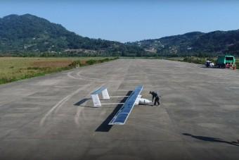 Pilóta nélküli, napelemes gépet tesztel Kína