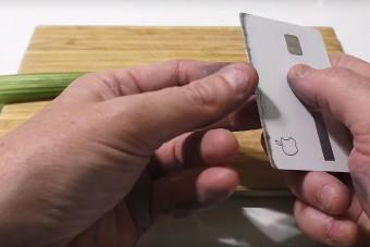 Életveszélyes fegyvert faragtak az Apple hitelkártyájából, szó szerint