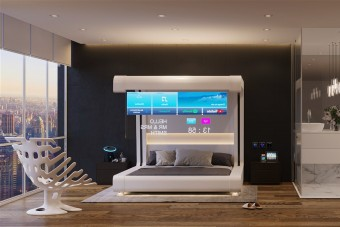 Így nézhet ki a jövő hotelszobája