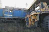 Eltiporta a Kamazt a hatalmas bányagép 5
