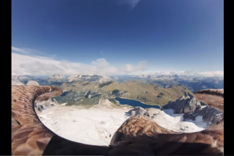 Egy sas szemszögéből láthatjuk a pusztuló gleccsereket