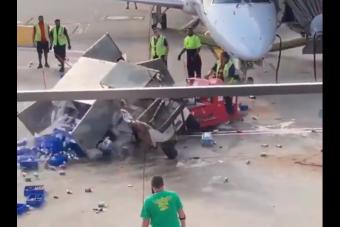 Megkergült jármű okozott veszélyes pillanatokat egy amerikai reptéren