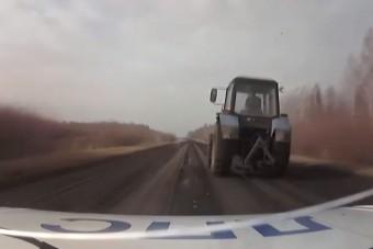 Mezőn üldözték a részeg traktorost az orosz rendőrök, rá is lőttek