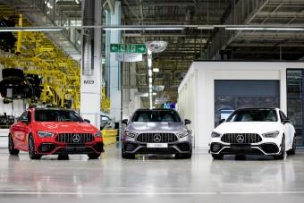 Új csúcs-Mercedesek gyártása kezdődött el Kecskeméten