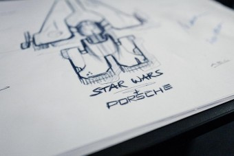 Star Wars-csillaghajót rajzolt a Porsche
