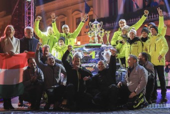 Váratlan hazai siker a magyar rali-Eb-futamon